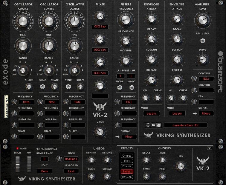 Blamsoft VK2 Rack Extension