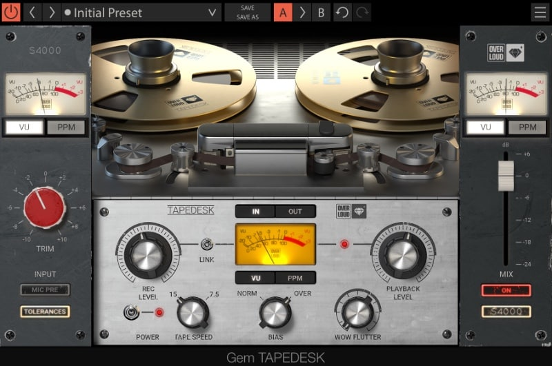 Overloud Tapedesk - new Console + Tape Machine Emulation Plugin