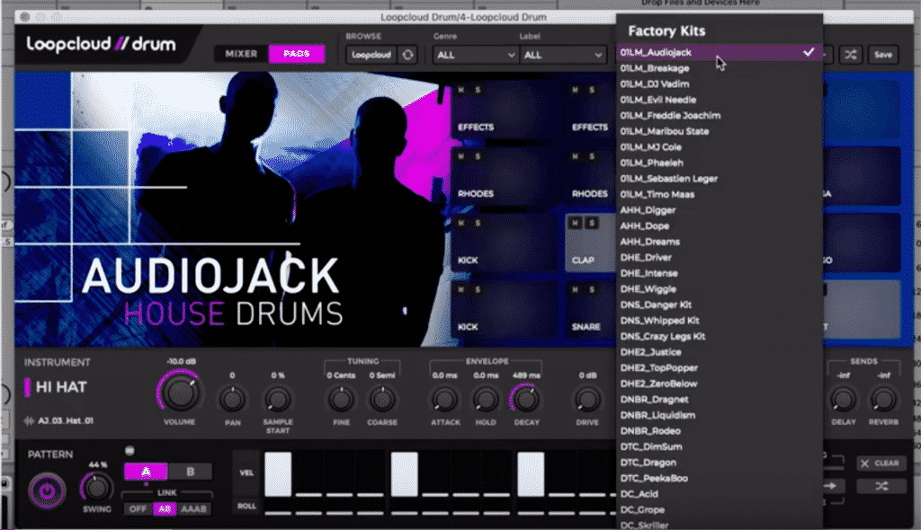Loopcloud Drum - new free Drum/Beat plugin by Loopmasters - iDesignSound